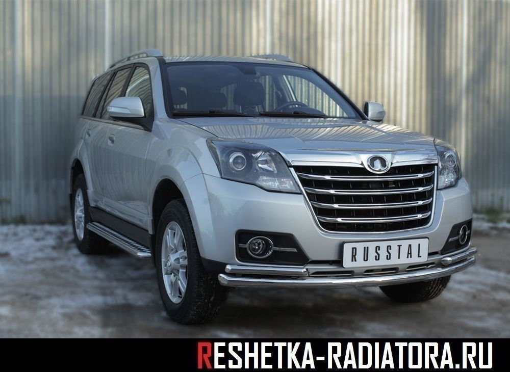 Защита бампера d63xd42 хром Great Wall Hover H3 NEW 2014-2016
