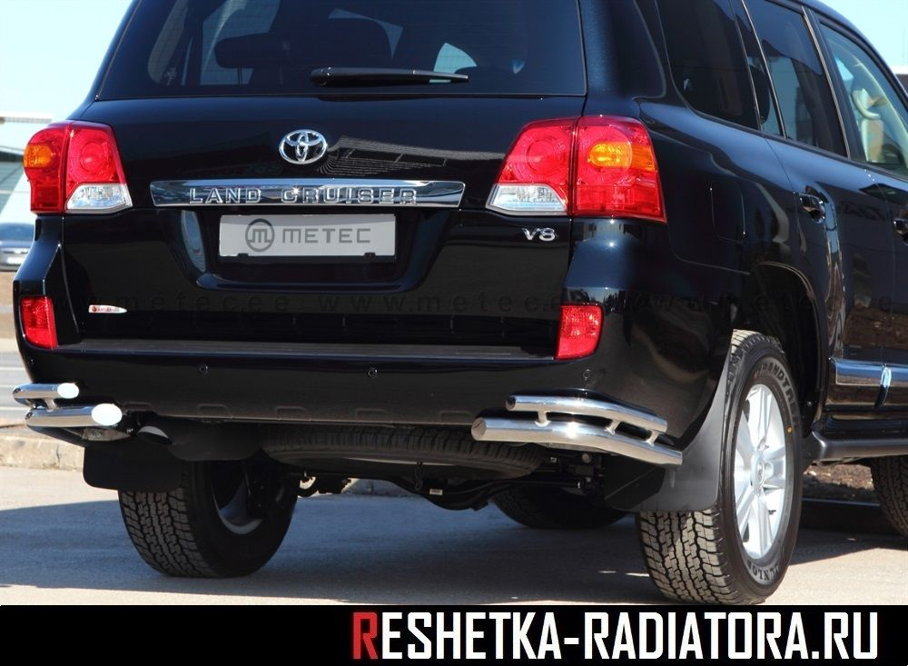 Уголки хром D60-D42 Toyota Land Cruiser 200 2013-2008-2012