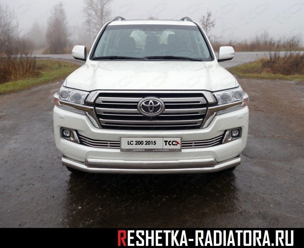 Решетка в бампер d12 хром Toyota Land Cruiser 200 2015-2017-2018