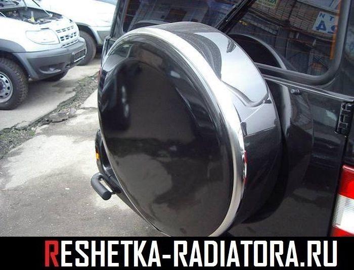 Чехол/бокс запасного колеса нерж. сталь УАЗ Патриот 2002-2017 некрашеный