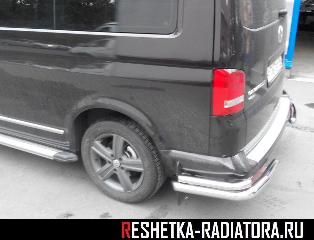 Защита заднего бампера/уголки Volkswagen T5 Caravelle 2010-2015